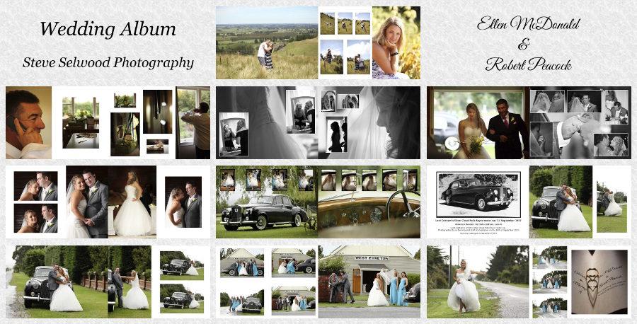 wedding photo albums examples
